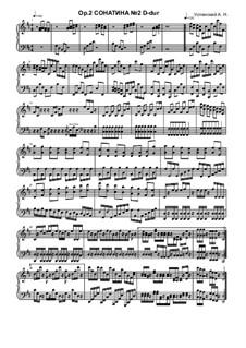 Sonatina No.2, Ор.2: Sonatine Nr.2 by Ksardas