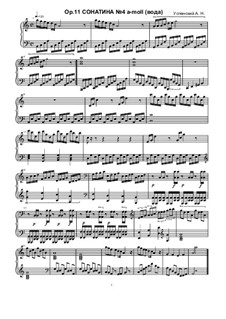Sonatina No.4, Ор.11: Sonatina No.4 by Ksardas