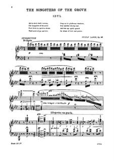 The Songsters of the Grove, Op.88: Für einen Interpreten by Gustav Lange