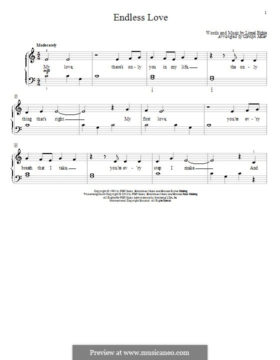 Endless Love: Für Klavier by Lionel Richie