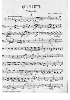 Streichquartett Nr.12 in F-Dur 'Americký', B.179 Op.96: Cellostimme by Antonín Dvořák