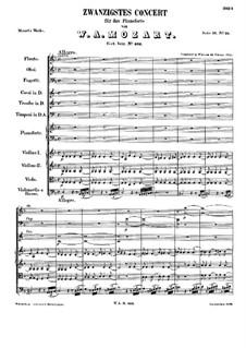 Konzert für Klavier und Orchester Nr.20 in d-Moll, K.466: Vollpartitur by Wolfgang Amadeus Mozart