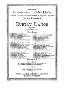 Fantasien über beliebte Lieder, Op.171: Nr.2 Im Rosenduft  by Gustav Lange