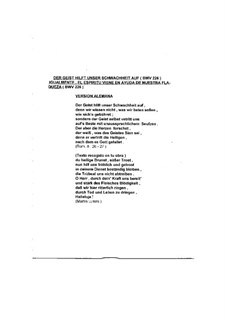 Der Geist hilft unsrer Schwachheit auf, BWV 226: Couplet II by Johann Sebastian Bach