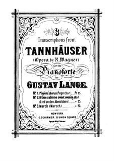 Grosser Marsch: Für Klavier by Richard Wagner