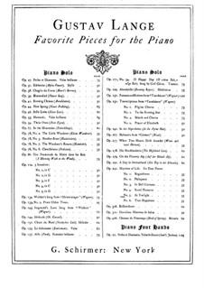 Aus des Lebens Mai, Op.292: Nr.5 Im Dämmerlicht by Gustav Lange