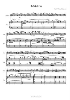 No.1 Gilderoy: Für Violine und Klavier by folklore, David W Solomons