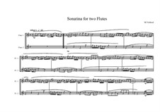 Sonatina for Two Flutes, MVWV 407b: Sonatina for Two Flutes by Maurice Verheul