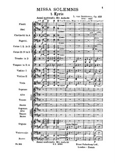 Missa Solemnis, Op.123: Kyrie by Ludwig van Beethoven