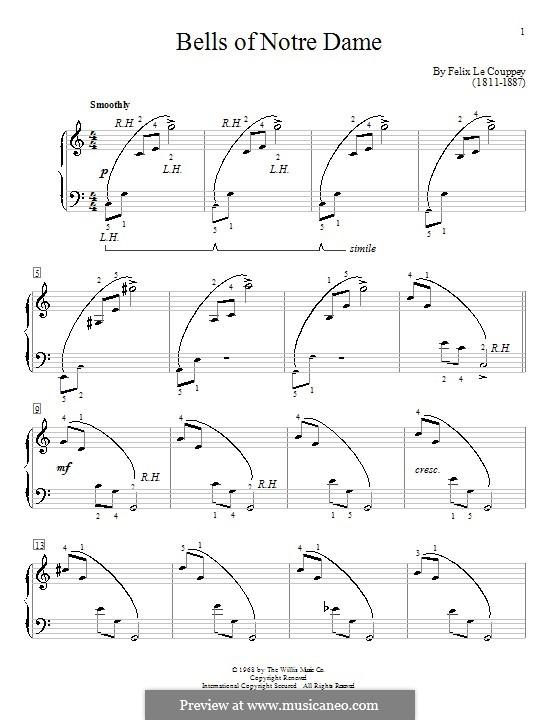 Bells of Notre Dame: Für Klavier by Felix Le Couppey