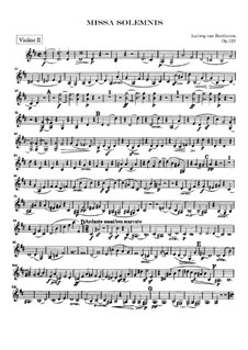 Missa Solemnis, Op.123: Violinstimme II by Ludwig van Beethoven