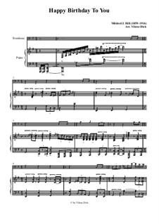 Zum Geburtstag viel Glück: Für Posaune und Klavier by Mildred Hill