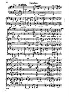 Missa Solemnis, Op.123: Sanctus, Klavierauszug mit Singstimmen by Ludwig van Beethoven