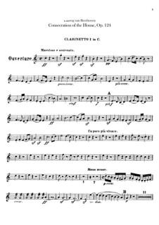 Die Weihe des Hauses, Op.124: Klarinettenstimmen I-II by Ludwig van Beethoven