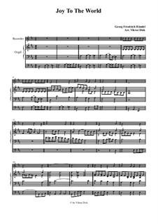 Freue dich Welt: Für Blockflöte und Orgel by Georg Friedrich Händel