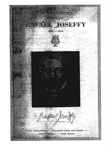 Catalog of Musical Library owned by Rafael Joseffy: Catalog of Musical Library owned by Rafael Joseffy by Unknown (works before 1850)