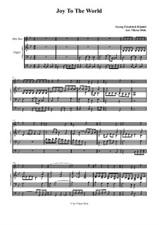 Freue dich Welt: Für Altsaxophon und Orgel by Georg Friedrich Händel
