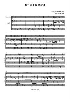 Freue dich Welt: Für Tenorsaxophon und Orgel by Georg Friedrich Händel