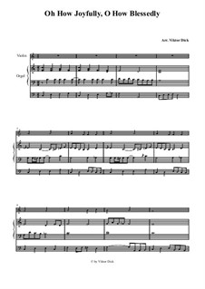 O du fröhliche: Für Geige und Orgel by folklore