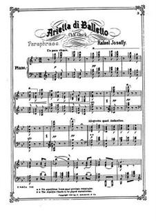 Arietta di Balletto: Für einen Interpreten by Rafael Joseffy
