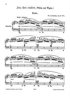 A la campagne, Op.40: No.1 Jeu des ondes by Theodor Leschetizky