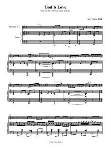 Gott ist die Liebe, läßt mich erlösen: Für Trompete in C und Klavier by folklore