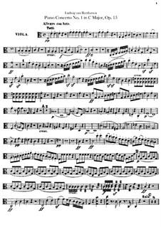 Konzert for Klavier und Orchester Nr.1, Op.15: Bratschenstimme by Ludwig van Beethoven