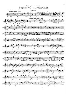 Vollständiger Sinfonie: Oboenstimmen I, II by Ludwig van Beethoven