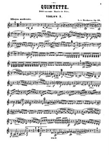 Streichquintett in C-Dur, Op.29: Violinstimme II by Ludwig van Beethoven