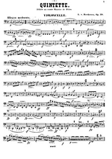 Streichquintett in C-Dur, Op.29: Cellostimme by Ludwig van Beethoven