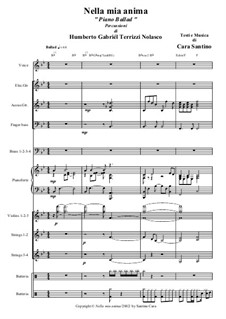 Nella mia anima 'Piano ballad'. Santino Cara with arrangements to the drum set of Chapy: Nella mia anima 'Piano ballad'. Santino Cara with arrangements to the drum set of Chapy by Santino Cara