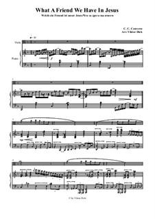Welch ein Freund ist unser Jesus: Für Bratsche und Klavier by Charles Crozat Converse