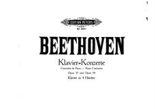 Konzert für Klavier und Orchester Nr.3, Op.37: Version für Klavier, vierhändig by Ludwig van Beethoven