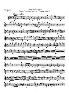 Konzert für Klavier und Orchester Nr.3, Op.37: Violinstimme I by Ludwig van Beethoven