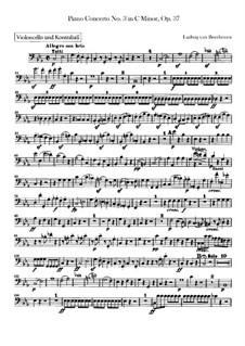 Konzert für Klavier und Orchester Nr.3, Op.37: Cello- und Kontrabassstimme by Ludwig van Beethoven