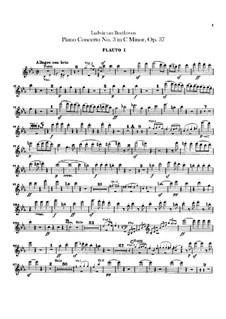 Konzert für Klavier und Orchester Nr.3, Op.37: Flötenstimme I-II by Ludwig van Beethoven