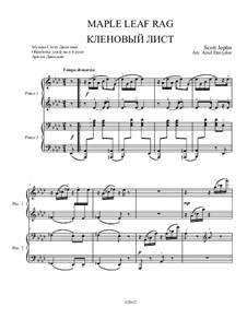 Maple Leaf Rag: Für Klavier, vierhändig by Scott Joplin