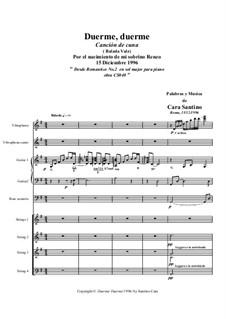 Duerme, duerme. Canción de cuna 15-12-1996: Duerme, duerme. Canción de cuna 15-12-1996 by Santino Cara