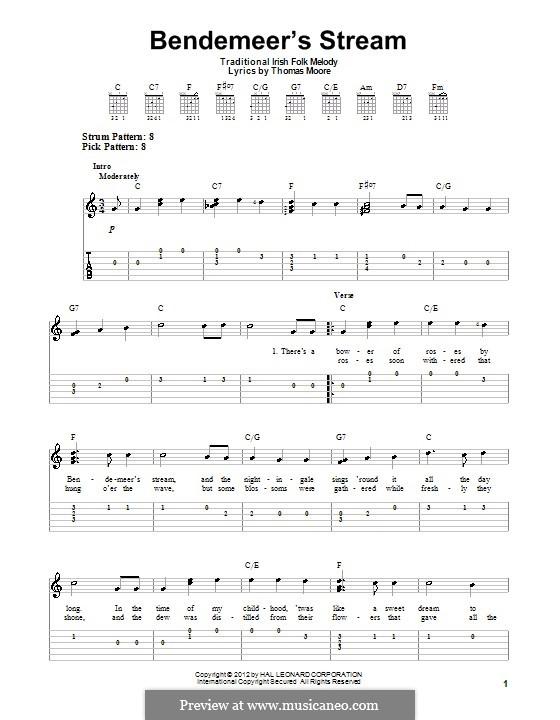 Bendemeer's Stream: Für Gitarre by folklore