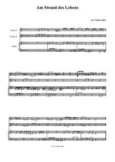 Am Strand des Lebens: Für zwei Violinen und Klavier by folklore