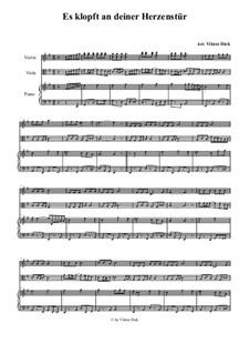 Es klopft an deiner Herzenstür: Für Violine, Viola und Klavier by folklore