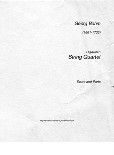 Rigaudon: Für Streichquartett by Georg Böhm