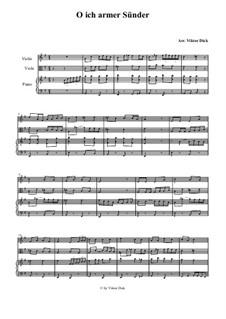 O ich armer Sünder: Für Violine, Bratsche und Klavier by folklore