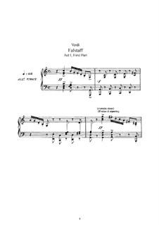 Falstaff: Bearbeitung für Solisten, Chor und Klavier by Giuseppe Verdi