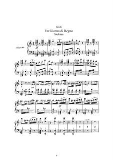 König für einen Tag: Bearbeitung für Solisten, Chor und Klavier by Giuseppe Verdi