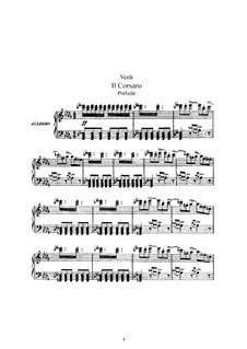 Der Korsar: Bearbeitung für Solisten, Chor und Klavier by Giuseppe Verdi