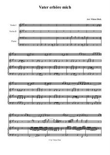 Vater erhöre mich: Für zwei Violinen und Klavier by folklore