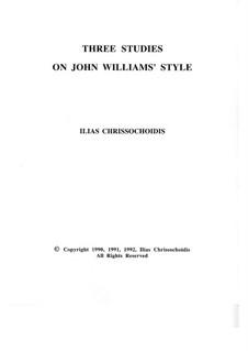 Three Studies on John Williams' style: Nr.1 by Ilias Chrissochoidis