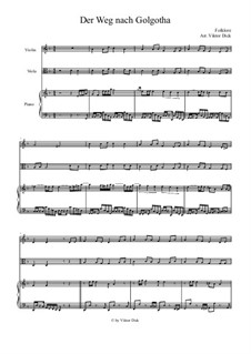 Der Weg nach Golgotha: Für Violine, Bratsche und Klavier by folklore