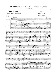 Ave verum: For soprano and organ by Adolphe Adam